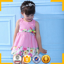 2015 design spanish baby clothing pink flower organic baby 8 clothing