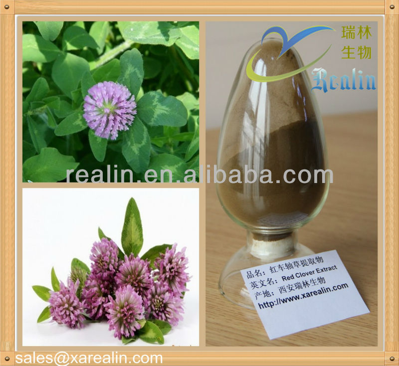 100% Natural Red Clover Extract Isoflavones Powder 2.5%, 8%, 20%, 40%