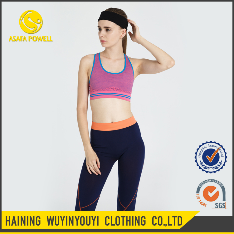 Cheap Wholesale Fashionable Women Fitness Apparel Hot Sexy Sports Stap Bra For Workout Running