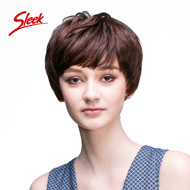 Sleek Remy human hair wigs Short wigs for black women Natural wave Rihanna's hairstyle wig Brazilian virgin hair Free Shipping