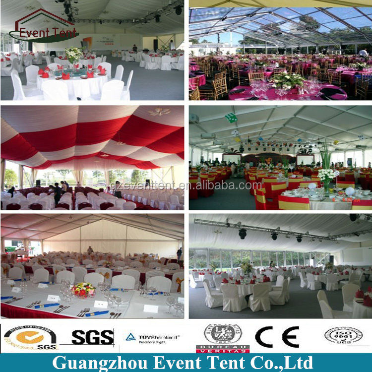 hot sale 15x30m wedding tent with lining, draping, curtains