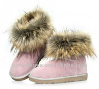 lovely winter shoes woman short boots with hairs