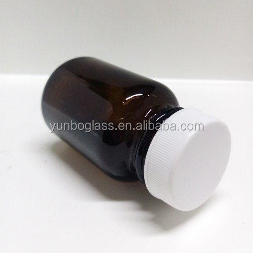 60ml glass orange pill bottle with plastic cap Used for medcine, pill bottle manufactures
