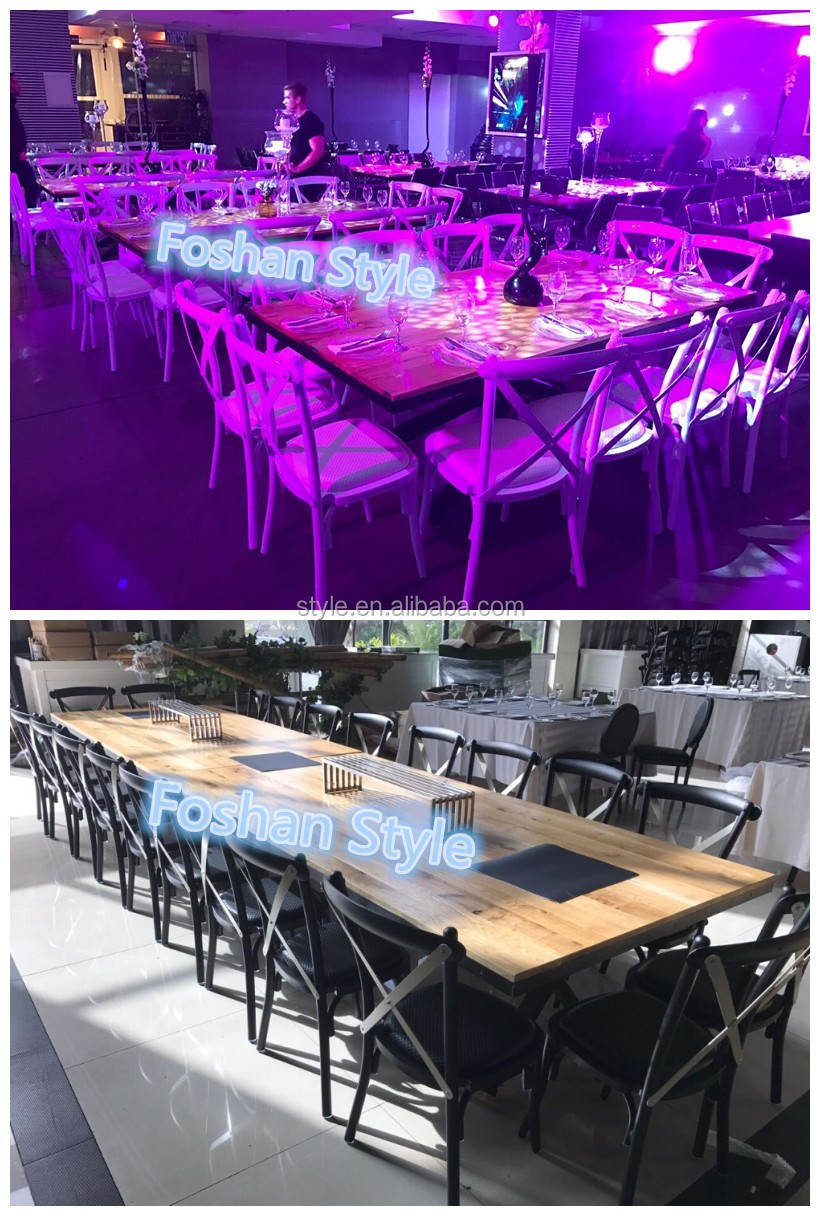 B-357 cross back banquet chair, aluminium cross chair, X back chair for resteraunt/dinning room/ wedding party