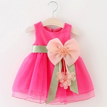 2017 New Fashion Flower Girl Dress Party Birthday wedding princess Toddler Girls Clothes baby girl's princess dress