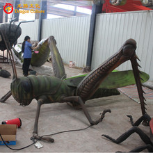 Theme park animatronic grasshopper insect model for sale