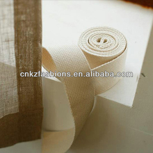Cotton Webbing - Natural Beige - Heavy Weight for Key Fobs,raw leather Purse Straps, Belting, Bag handle