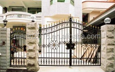 iron fancy gates for house building