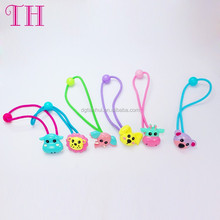Infant hair accessory resin likely animal design elastic kids spring hair bands made of hair