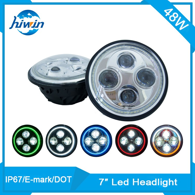 Hiwin 7inch 48w E-mark IP67 harley off road high quality 7inch led headlight for car