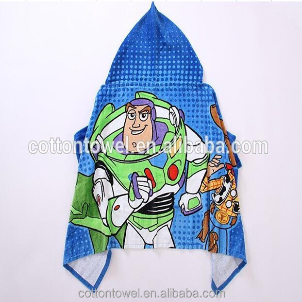 children hooded bath towel ,printed customized cartoon design baby/kids hooded towel