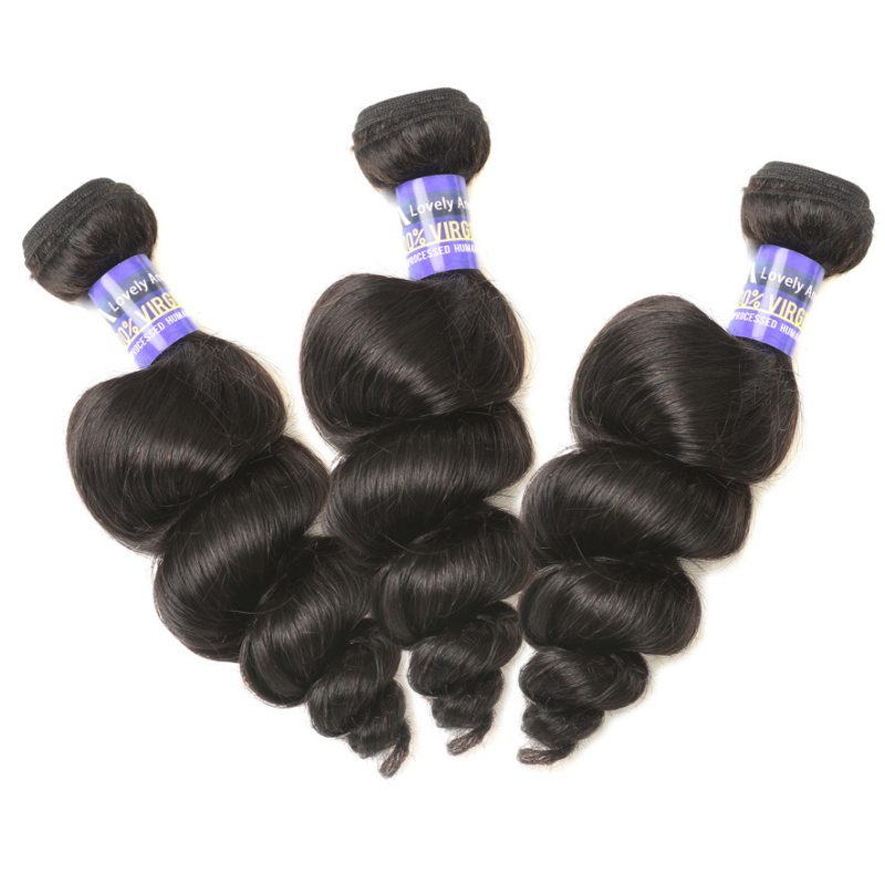 Peruvian Virgin human Hair bundles extension loose wave