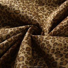 China manufacture wholesale knit transfer leopard print suede fabric with TC fabric for bag/garment/shoes/sofa