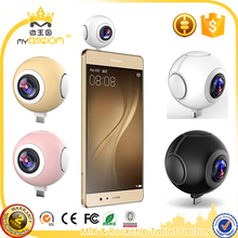 360 Degree Dual Lens Mini Action Camera for Mobile Phone Android 720 Panorama VR Camera