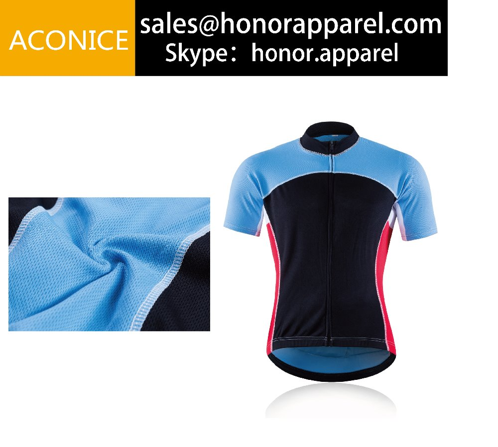 Multi Soild Colors Short Sleeve Bicycle Racing Tops Summer Cool Cycling Jersey Cozy Sportswear