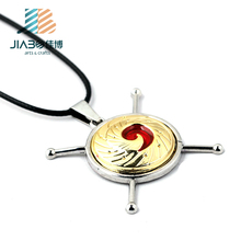 High quality with custom design pendant round silver metal charms Hokage Ninjia game
