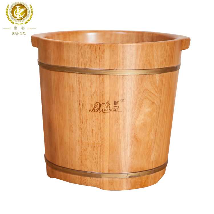 Wholesale Solid Wood Bucket Soaking Foot Wash Basin Wooden <strong>Oak</strong> <strong>Barrel</strong>