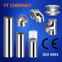 CE approved wood burning fireplace tool stainless twin wall chimney flue in 5'',6'',7'',8''
