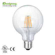 OEM logo vintage indoor home decorative glass cover g95 e27 led globe light filament bulbs