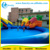 Dragen Theme Giant Inflatable Water Park Games With Coconut Tree Slide and Water Pool