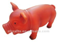 Cute vinyl toy shrilling pig animal