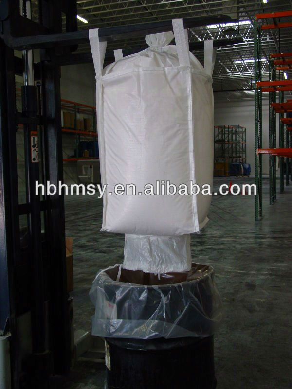 Hebei 90*90*90cm Filling Spout Top Discharge Spout Bottom FIBC Bag PP Container Dunnage Bag 1 Ton Jumbo Bag With High Quality