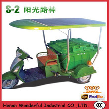 Environmental and low consumption Sunshine E-Car solar electric tricycle for cargo