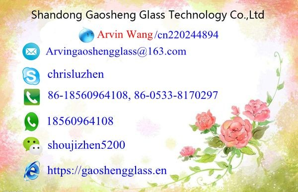 China Supplier Tempered Glass cost per square foot