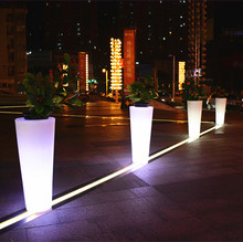 led tower light decorative flower holders orchid pot for wholesales