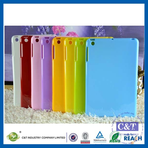 C&T Various Colours New tpu rubber jelly gel case cover for new apple ipad mini 4, for ipad mini 4