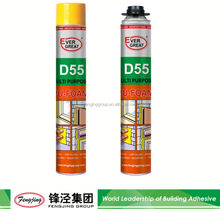 Double adhesive 310ml grey polyurethane insulation foam sealant manufacturer sale