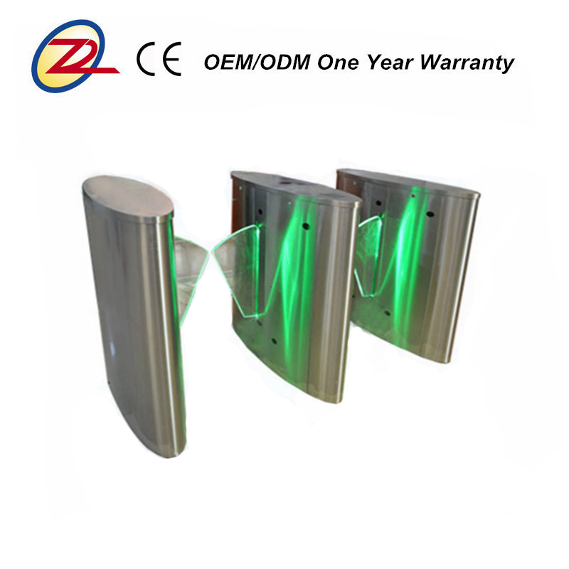 Pedestrian RFID control system wholesale automatic speed gate flap barrier