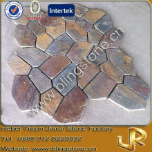 Decorative flagstone mats natural slate brown color