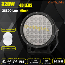 Road Legal Buggy Auto Spare Parts High quality 4D Lens 320w led work light, led 12v Work Lights Automotive Truck LED Light