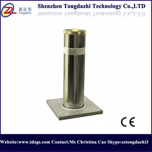 High quality rising security stainless steel bollards