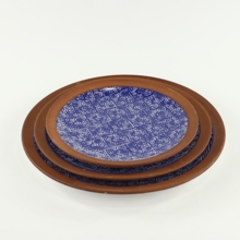 wholesale special pottery terracotta green ceramic dinner <strong>plates</strong>