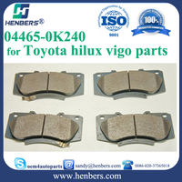 auto brake pads for 04465-0K240 front disc brake pad kit toyota hilux vigo parts
