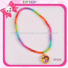 plastic bead necklace with charm