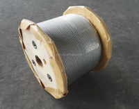 DIN3060 6x19+FC electro galvanized steel wire rope, 7x19 aircraft cable