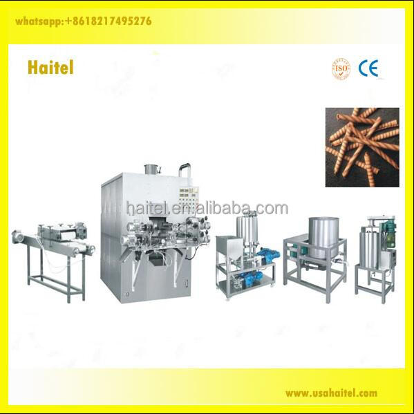 Chinese most popolar egg roll wafer stick snack food making machine