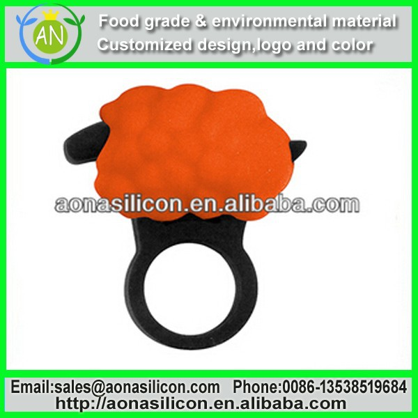Promational Colorful Sports Silicone Ring With Debossed Logo For Boys / Girls