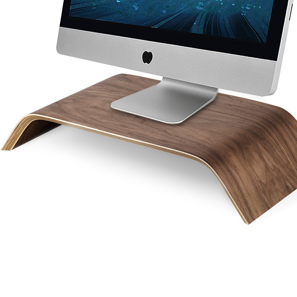 Universal Monitor Stand Solid Wood Stand Bracket for iMac PC Notebook