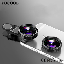 Hot Selling 2 in 1 Mobile Phone Lens Wide Angle Lens Macro lens for Mobile Phone Camera Zoom Lens for Ip 7 8