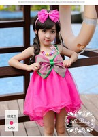New desgin dress fashion wholesale kids clothes baby vest dress girl wedding party dress girls with big bowknot,tutu skirt