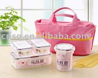 plastic printing airtight lunch box set bag factory sales