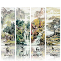 Chinese Landscape Traditional Oil Painting On Canvas