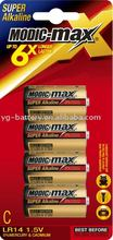 Alkaline Battery C LR14 4pcs/ blister card
