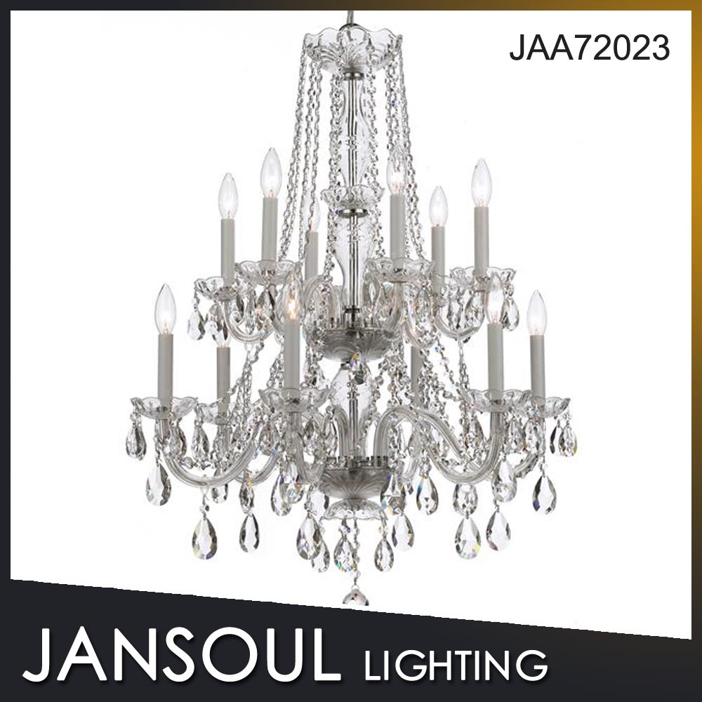 JANSOUL new indoor lighting silver metal clear glass pendant lights