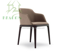 2015 hot sale Modern Design Ding room chair, Poliform Grace Chair with arms