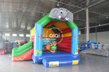 QIQI mini and simple design zoom theme used Commercial jungle bounce Houses for Sale